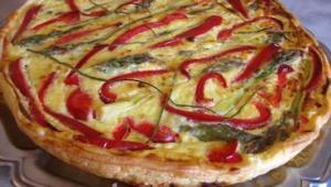tarte-aux-asperges-poivron-et-jambon-45913